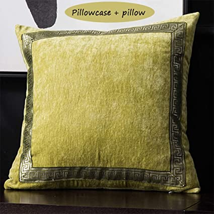 Amazon Com New Chinese Pillow Living Room Leather Sofa Cushion