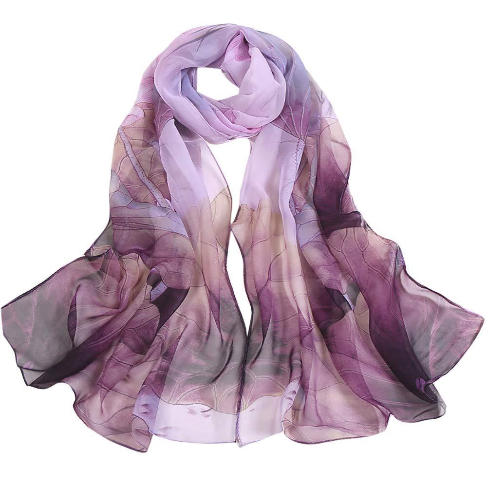 African Head Scarf For Women Liraly Lady Fashion Lotus Printing Long Soft Wrap Scarfs Ladies Shawl Scarves