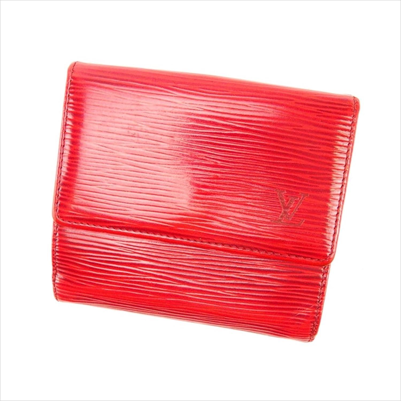 ルイヴィトン Louis Vuitton Wホック財布 三つ折り ユニセックス ポルトモネビエカルトクレディ M63487 エピ 中古 A713 B019RKR6R8