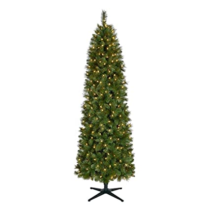 Home Accents Holiday 7 ft. Pre-Lit LED Wesley Pencil Spruce Artificial  Christmas Tree - Amazon.com: Home Accents Holiday 7 Ft. Pre-Lit LED Wesley Pencil