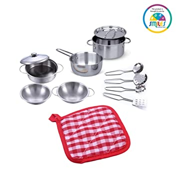 Buy Smiles Creation Stainless Steel An Pretend Play Kitchen Set