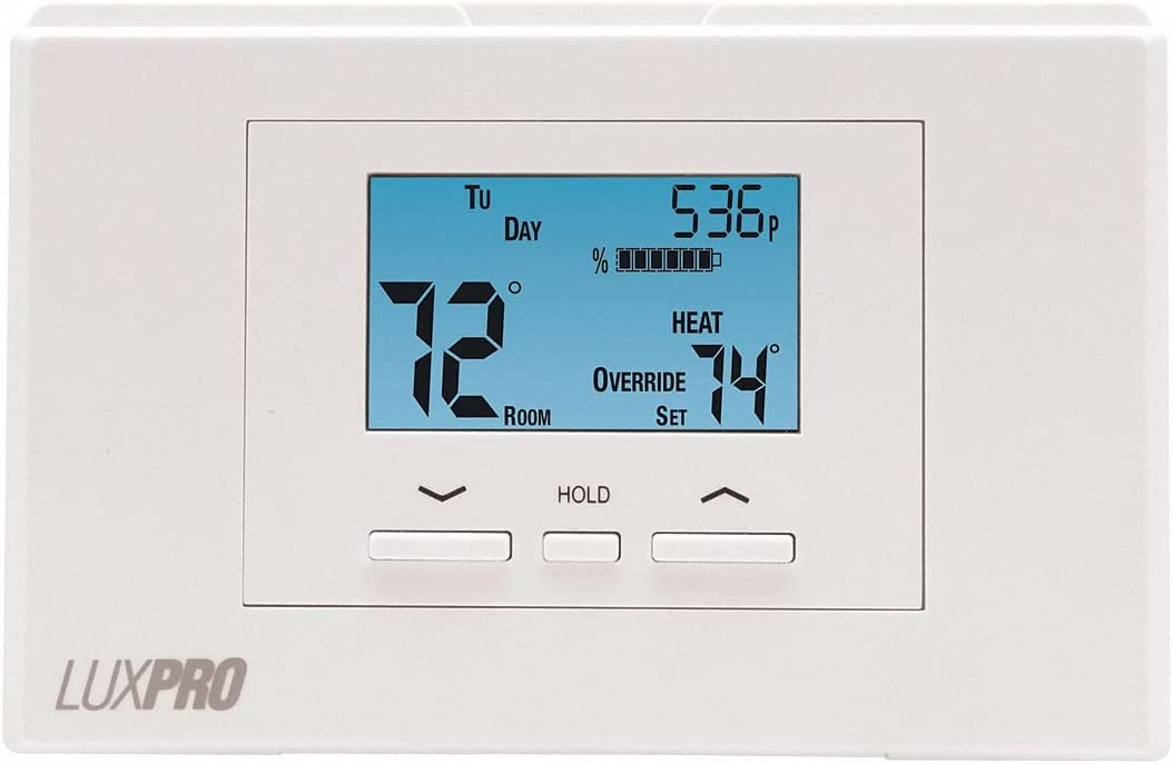 Programmable Thermostat LuxPro P521U 5-2 Day 2 Heat 1 Cool