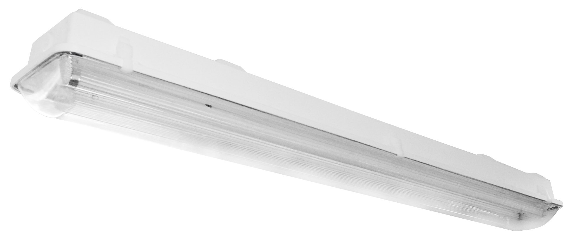 Lighting by AFX VTL254HOMV Industrial Grade Multi-Volt 2-32 Watt T12 Vaportite Light Fixture, Fiberglass Housing with Clear Acrylic Lens by Lighting by AFX