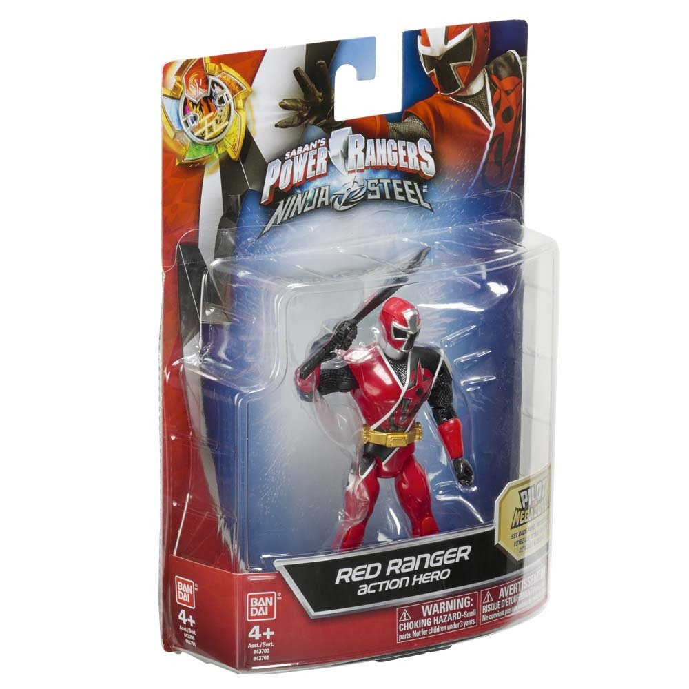 Amazon.com: Power Rangers 43701 Ninja Steel 12.5cm Red ...