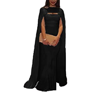 Ellenhouse Womens Mermaid Long Formal Gown Prom Evening Dresses with Cape EL380