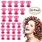 hair rollers for natural hair - Hair Rollers, 30 Pcs No Heat Hair Curlers, Night Sleep No Clip Silicone Curlers, Magic Hair Styling Tools, No Damage to Hair