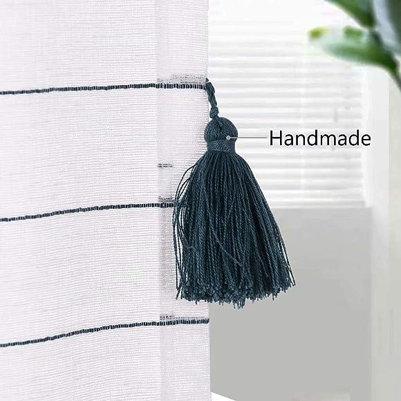 LORDTEX Handmade Tassels Sheer Curtains