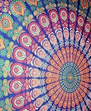 Handicrunch Indian Mandala Wall Hanging, Mandala Tapestry Tapestires, Hippy Hippie Wall Decor, Beautiful Dorm Decor Tapestry, Indian Bohemian Bedspread by ...