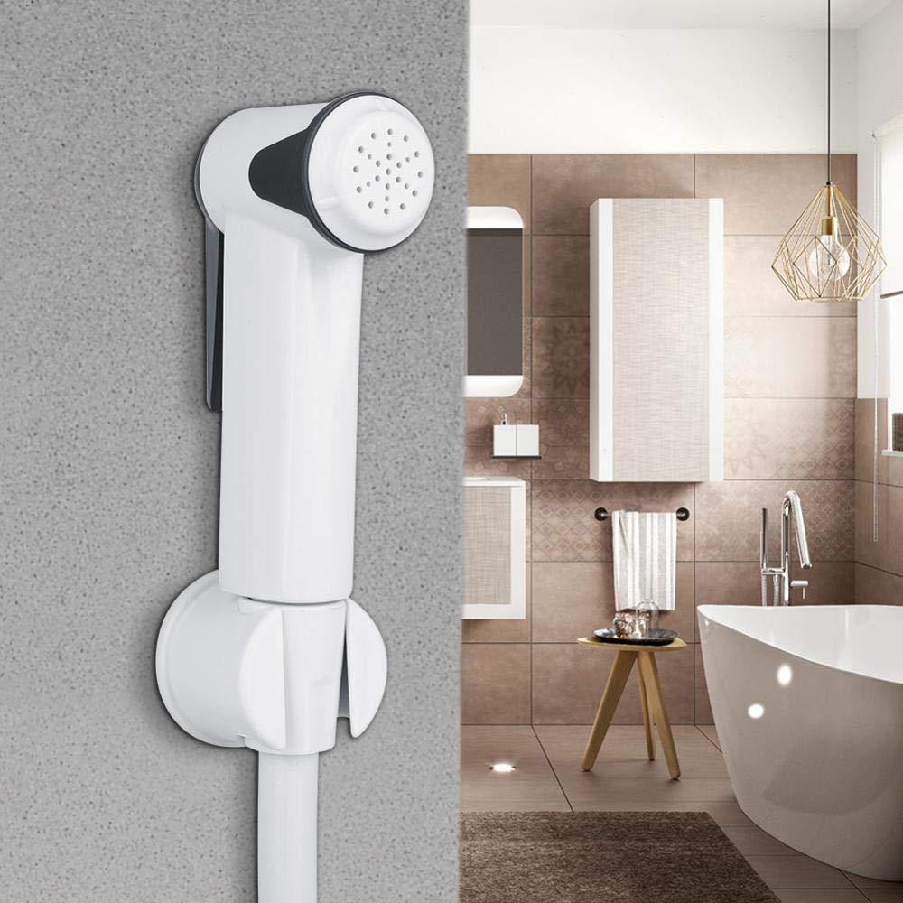 Garosa Set De Douche de Pulv/érisateur de Bidet Portatif Shattaf Toilette Portable Douchette Pulv/érisateur Support De Tuyau Mural