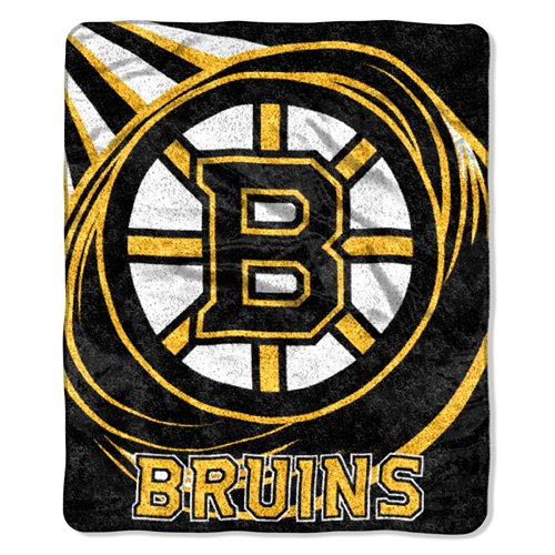 Bruins Boston Blanket (The Northwest Company Boston Bruins NHL Puck Series Sherpa Throw (50