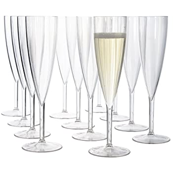 US ACRYLIC 5 oz Clear Plastic Flute Champagne Glass