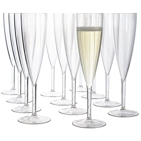 Amazon Plastic 5 Ounce One Piece Champagne Flute Set Of 12