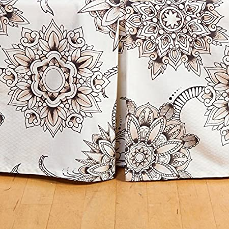 Henna Tattoo Bed Skirt Queen Amazon Co Uk Kitchen Home