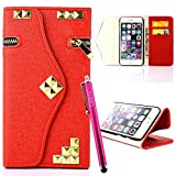 iPhone 4S Case, JCmax [Zipper Feature] Folio Cover Purse PU Leather Wallet Stand Case With [Card Slots][Magnetic][ Wrist Strap] For Apple iPhone 4S