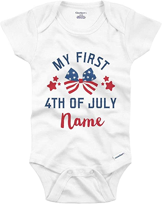 4th of July Gerber® Onesie® CUTE Baby Shower Gift INFANT T-SHIRT
