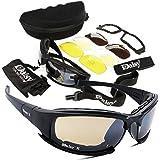 e17fb95fc80a Army Sunglasses Military Goggles 4 Lenses Kit Tactical Glasses Gear UV  Blocking Protective…