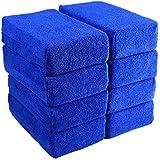 Car Wash Microfiber Sponges House Clean Sponge, Premium Grade Microfiber Applicators for Car Washing, Car Cleaning Kit, Car Exterior Care, Microfiber Applicator Pad for House & Kitchen Cleaning