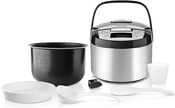 Taurus Top Cuisine Máquina de cocinar programable, cubeta extraíble 5 L, 12 Temporizador 24h, programas Especiales, Acero Inoxidable, Plata: Taurus: Amazon.es: Hogar