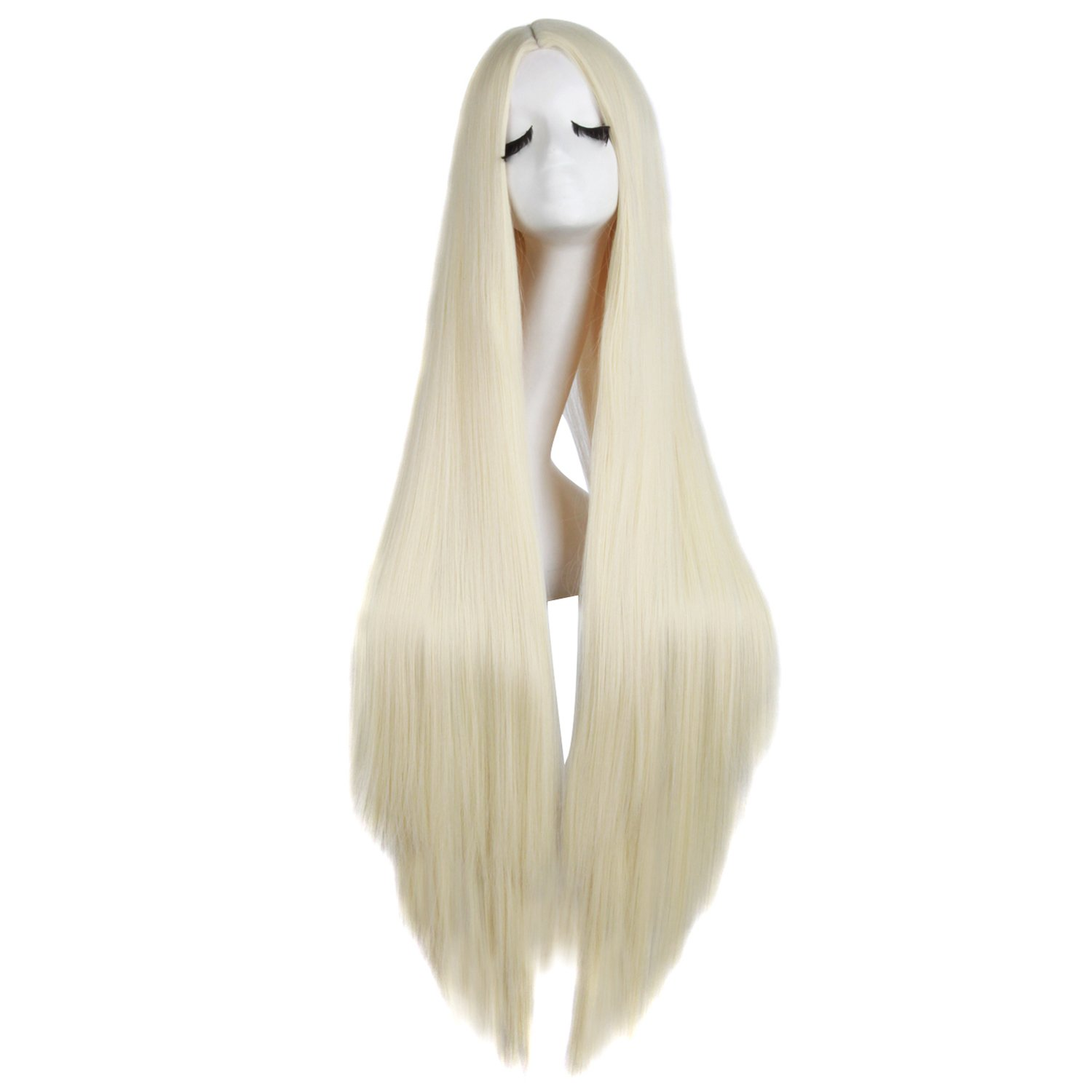 "MapofBeauty 40""/100cm Natural Soft Straight Long Cosplay Wig (Light Blonde)"