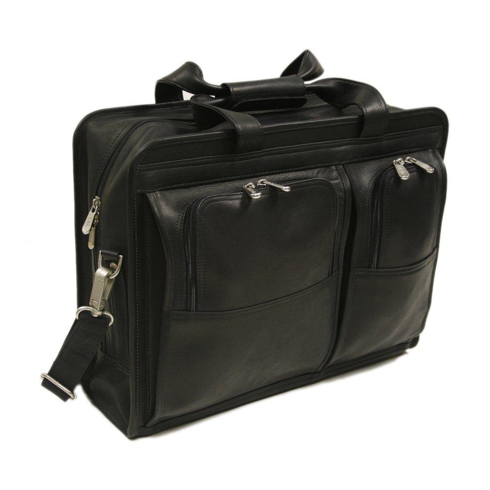 Piel Leather Professional Computer Portfolio, Black, One Size