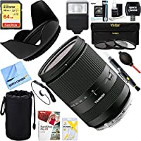 Tamron AFB011EM-700 18-200mm Di III VC for Canon Mirrorless Interchangeable-Lens Cameras - Black+ 64GB Ultimate Filter & Flash Photography Bundle