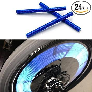 Labego 72pcs Riding Bike Bicycle Wheel Spoke Reflector Reflective Mount Clip Tube Cycling Warning Strips