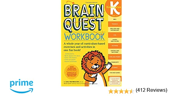 Workbook 4th grade spanish worksheets : Brain Quest Workbook: Kindergarten: Lisa Trumbauer: 9780761149125 ...
