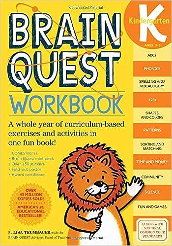 Brain Quest Workbook: Kindergarten: Lisa Trumbauer: 9780761149125 ...