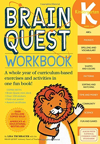 Brain Quest Workbook: Kindergarten: Lisa Trumbauer: 9780761149125 ...