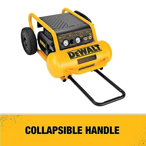 DeWalt d55146 4 - 1/2-GALLON 200-psi mano llevar Compresor con ruedas: Amazon.es: Bricolaje y herramientas