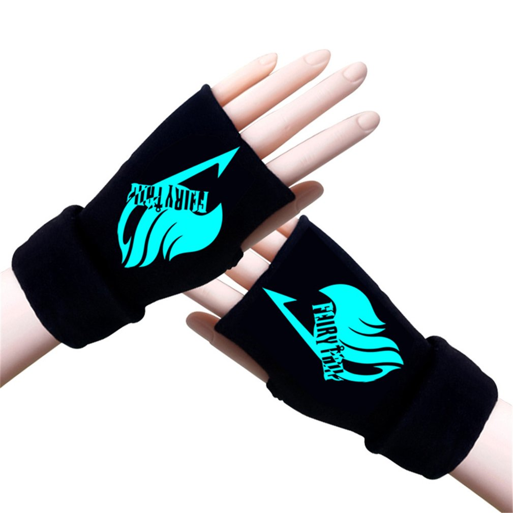 Gumstyle Fairy Tail Winter Fingerless Gloves Cosplay Arm Warmers Black 2