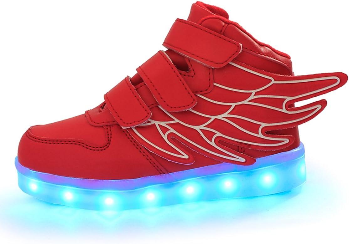 DoGeek Zapatos Led Niños Niñas 7 Color USB Carga Deportivas De ...