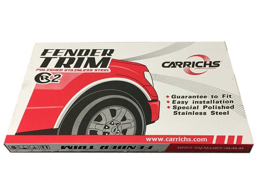 FENDER TRIM FORD F-150 2004-2014 BLACK Stainless Steel FTFD802 For