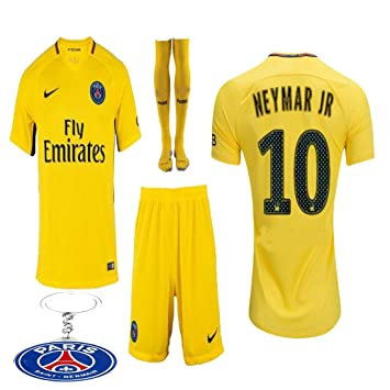 dccde6a498830 PSG Paris Saint Germaine Kid Youth Neymar Jr 2017 2018 17 18 Soccer Away  Jersey Kit
