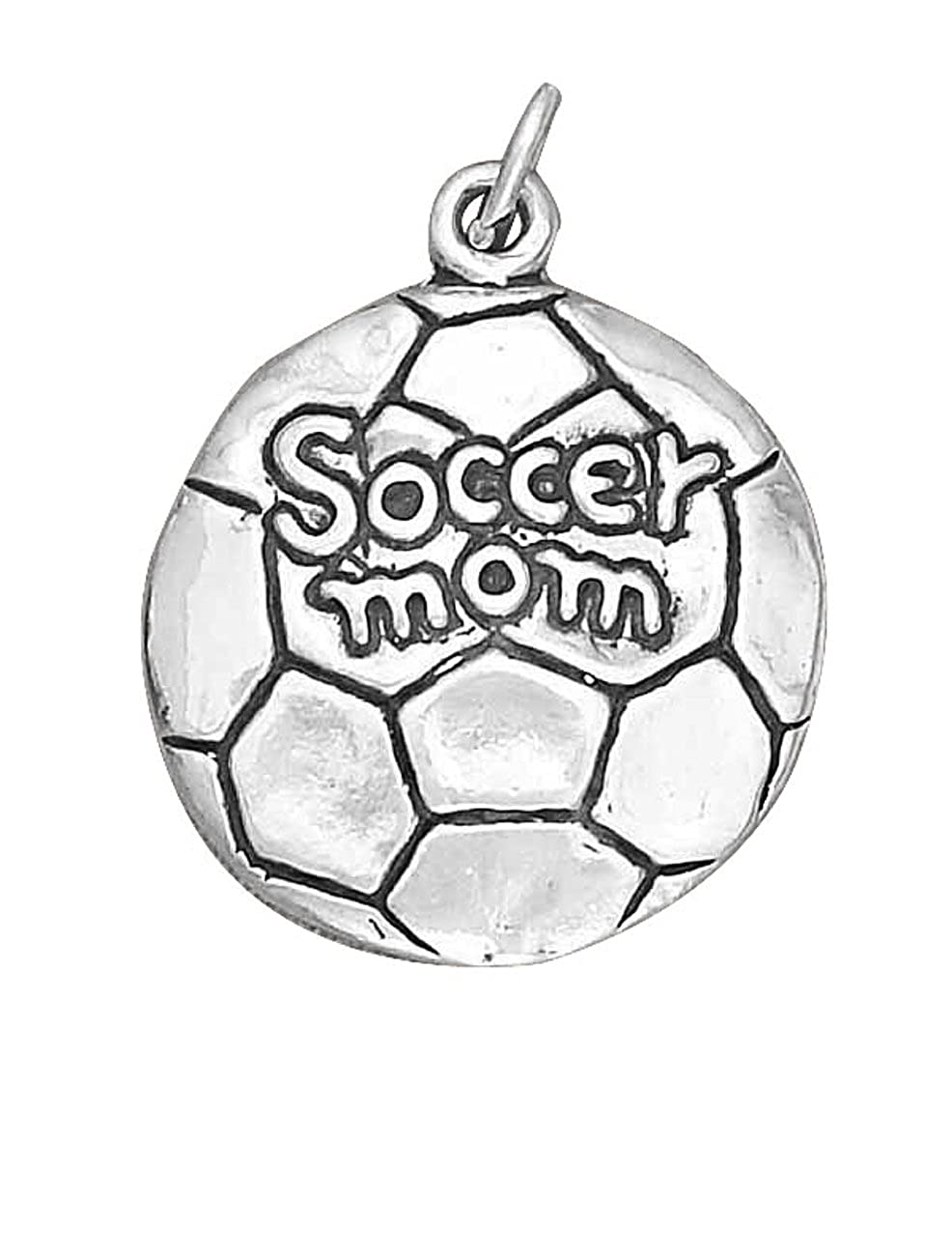 Sterling Silver 7 4.5mm Charm Bracelet With AttachedSoccer Mom Sports Word Charm