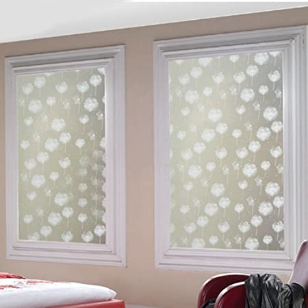 Dandelion Frosted Privacy Home Bedroom Bathroom Window Glass Film Sticker  Frosted Glass Sticker Decorative Window Film