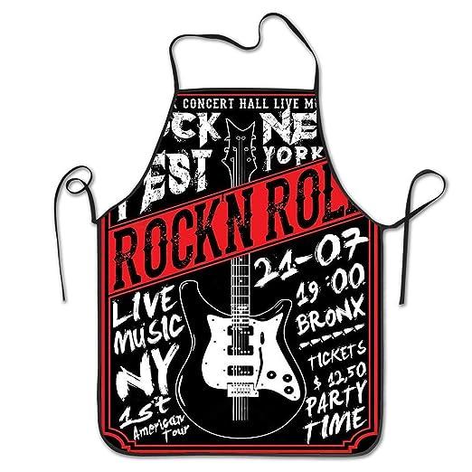 Smbada Delantal de Personalidad Divertida Rock Star Vintage ...