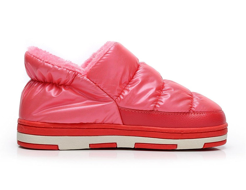 Polliwoo Cómodo Zapatillas de Algodón Térmica Vellocino Zapatos Para Mujer U6fuaWo