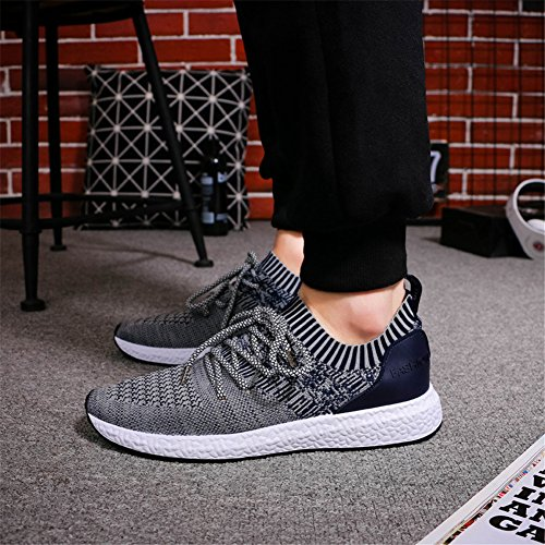 Hibote Homme Chaussures de Course Running Sport Compétition Trail Entraînement Basket Sneakers Outdoor Running Sports Fitness Gym Shoes MRFM02