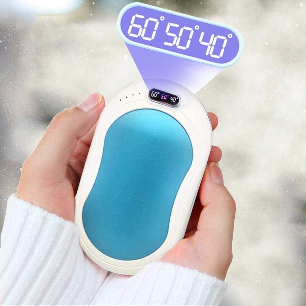 Chauffe-Mains Rechargeable USB 10000mAh Power Bank Batterie Externe Chaufferette Main /Électrique Poche R/échauffeur De Mains Portable Cadeaux pour Hommes Femmes en Hiver Froid
