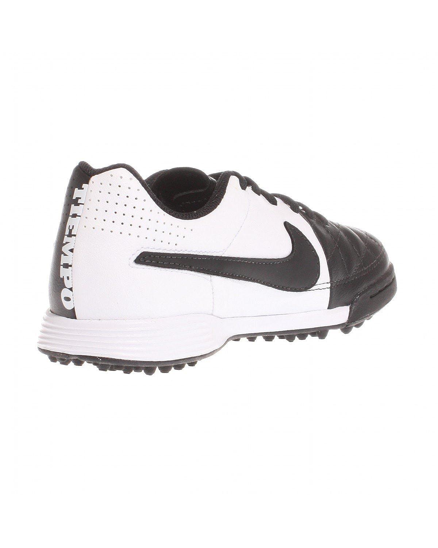 Toddler//Little Kid//Big Kid Nike Kids Unisex Jr Tiempo Genio Leather TF Black//Black//White 3 Little Kid M