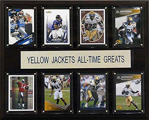 CandICollectables 1215ATGGT NCAA Football 12 x 15 in. Georgia Tech Yellow Jackets All-Time Greats Plaque from CandICollectables