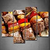 First Wall Art - Barbecue With Fruit Wall Art Painting The Picture Print On Canvas Food Pictures For Home Decor Decoration Gift
