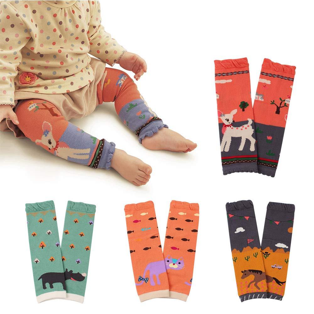 4Pack Christmas Stocking Baby Leg Warmers Toddler Boys Girls Cotton Leggings Kneepads for Crawling Warming