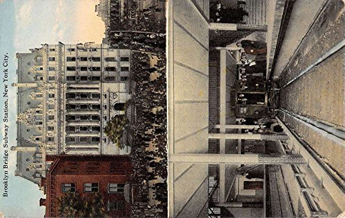 New York City Brooklyn Bridge Subway Station Multiview Antique Postcard K33428