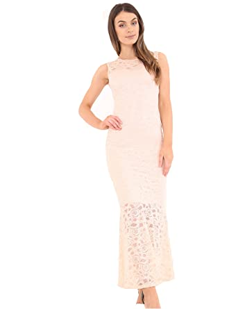 New Women Ladies Lace Floral Lining Maxi Bodycon Party Prom Gown Fish Tail Dress Plus Size