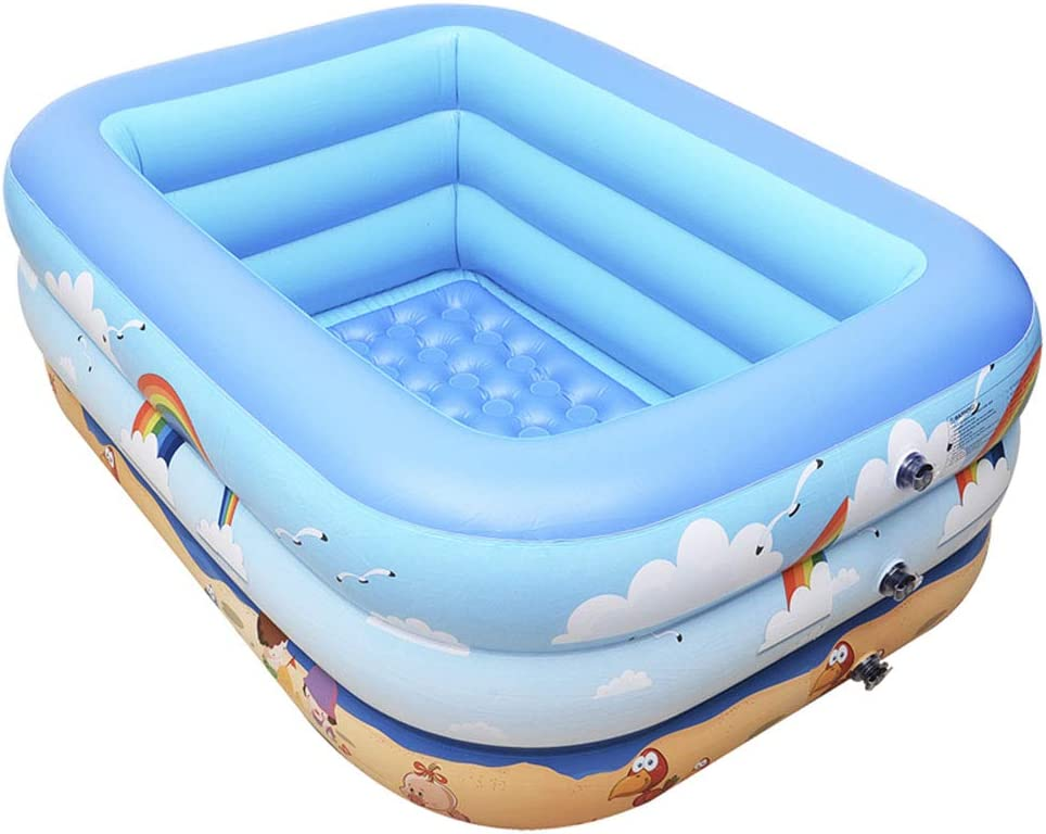 Swimming pool YUHAO(es) Piscina Inflable - Niños Inflable Piscina Rectangular: Amazon.es: Deportes y aire libre