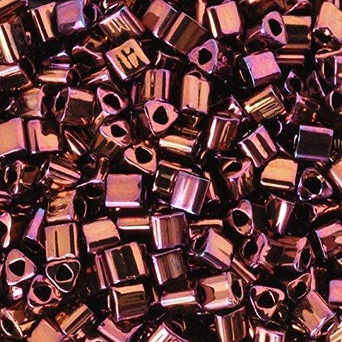 Seed Beads 11/0 Triangle 502 Higher Metallic Amethyst Toho 7 Grams
