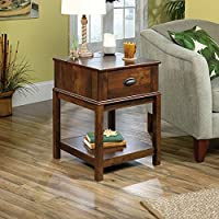 Sauder Harbor View Smart Center Side Table in Curado Cherry