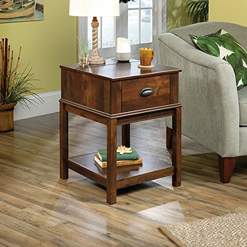 Sauder 422267 Harbor View Smart Center Side Table, Curado Cherry Finish ()